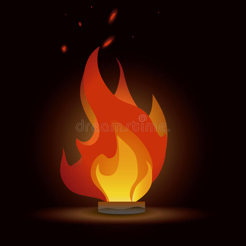 Fire design stock illustration
