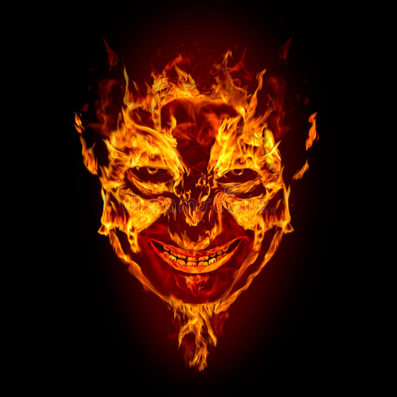 Download Fire Devil Face Stock Image - Image: 16130501