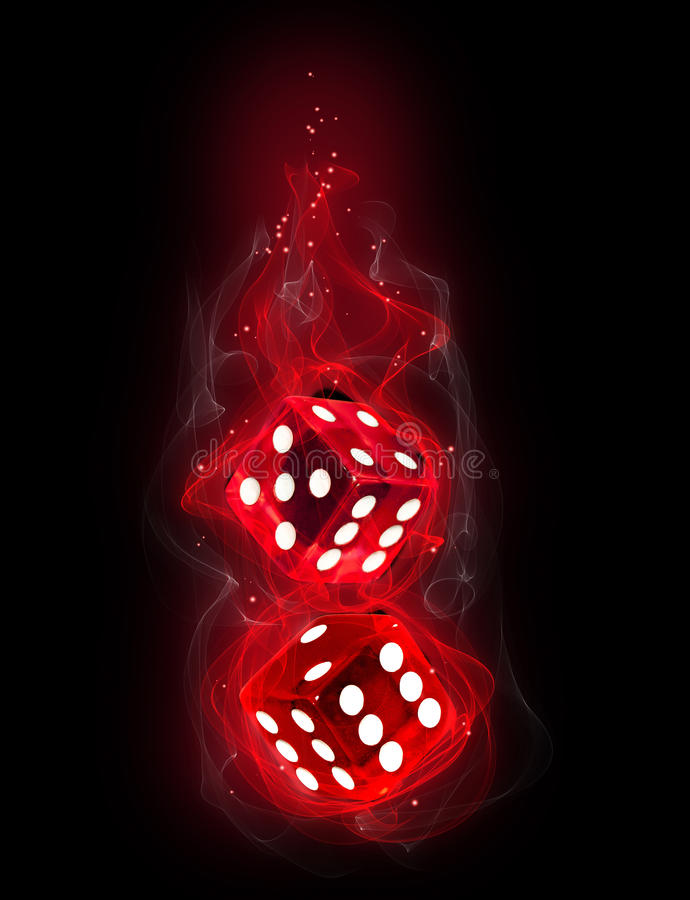 Fire dice royalty free illustration