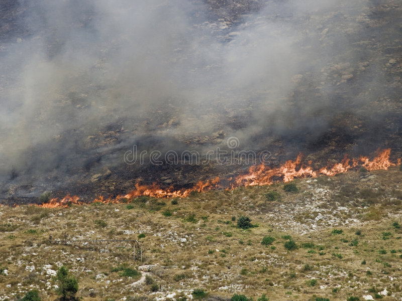 Download Fire disaster close up stock image. Image of dubrovnik - 2921507