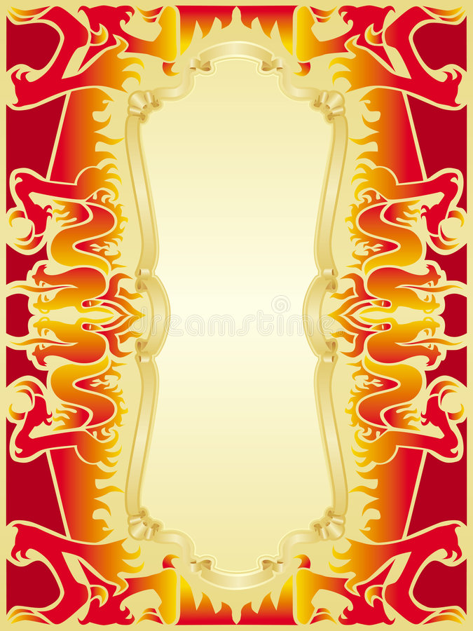 Download Fire Dragon Frame Set Royalty Free Stock Photography - Image: 2348487