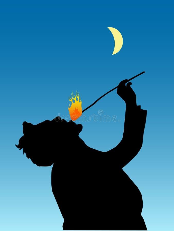 Fire eater vector illustration