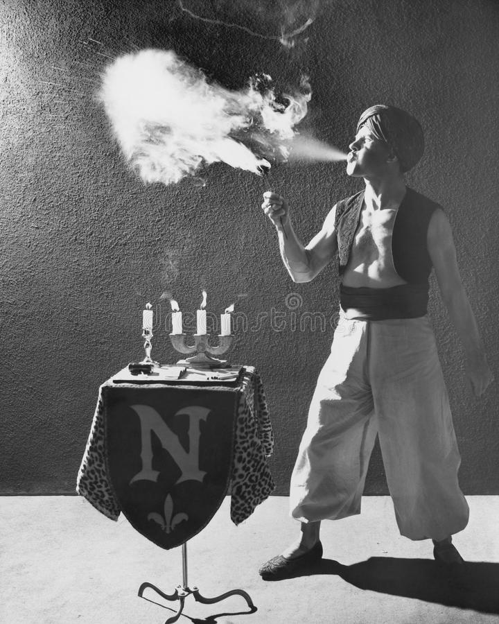 FIRE EATER stock photography