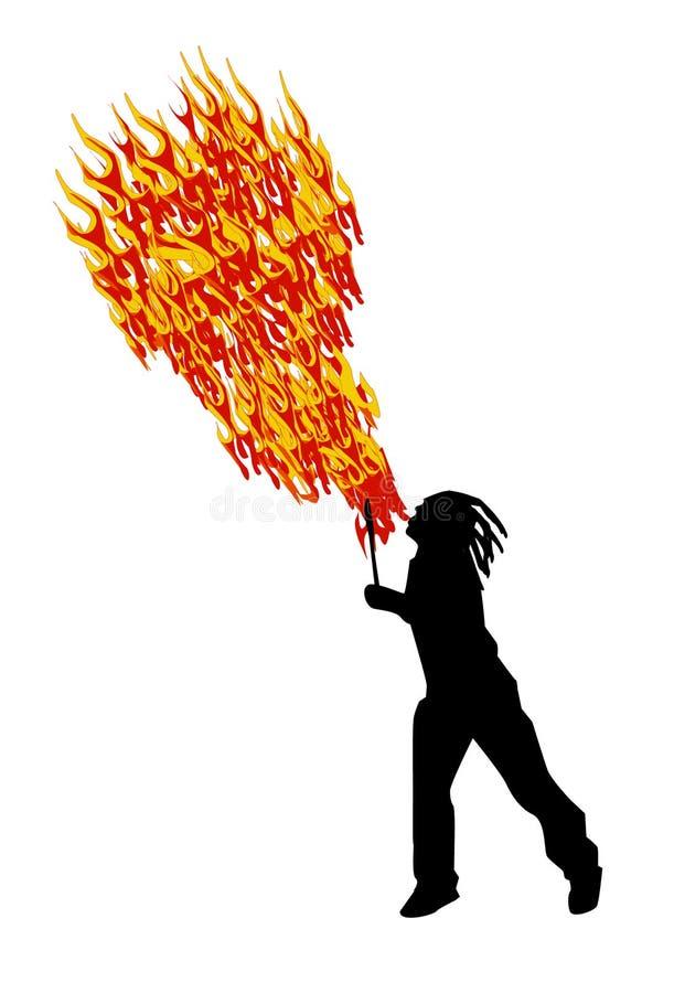Fire eater stock illustration