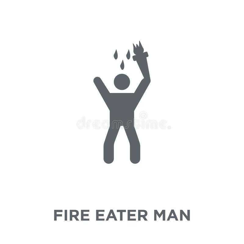 Fire eater man icon from Circus collection. vector illustration