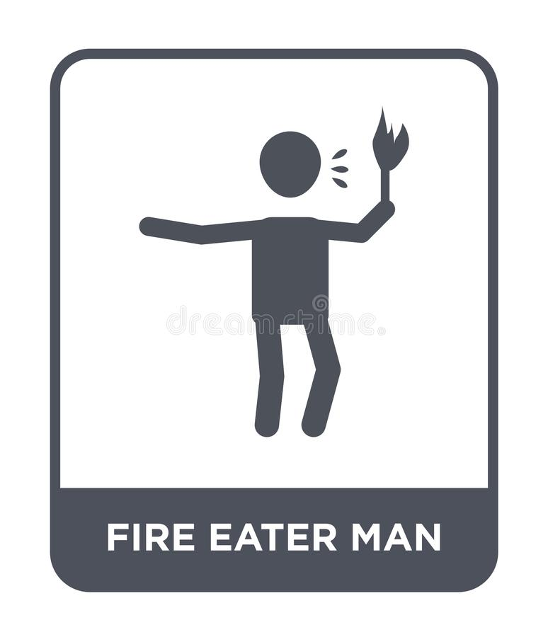 fire eater man icon in trendy design style. fire eater man icon isolated on white background. fire eater man vector icon simple stock illustration
