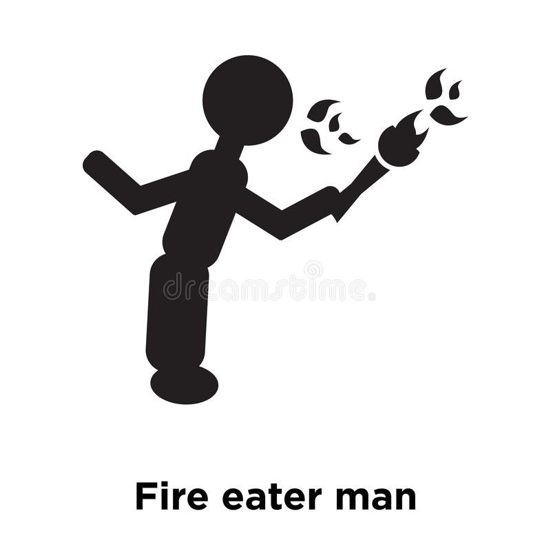 Fire eater man icon vector isolated on white background, logo co vector illustration