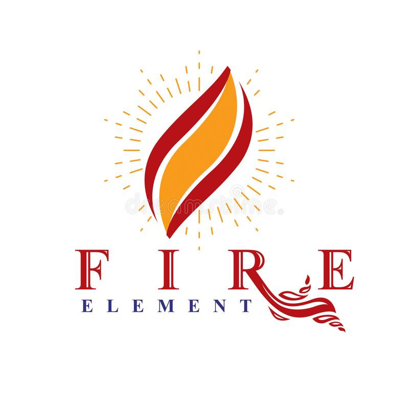 Fire Element Abstract Logo For Use As Petrol Corporate Emblem O