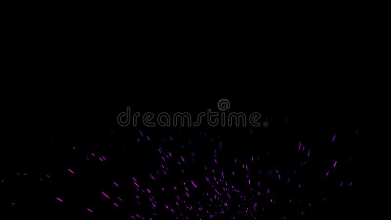 Fire embers particles texture overlays . Burn effect on isolated black background. Design element royalty free stock photo