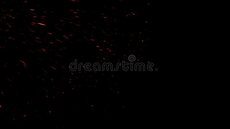 Fire embers particles texture overlays . Burn effect on isolated black background. Design element stock photos