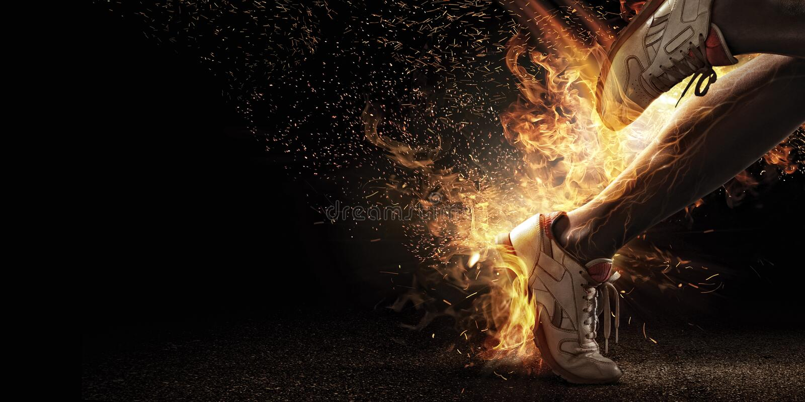 Fire and energy stock image