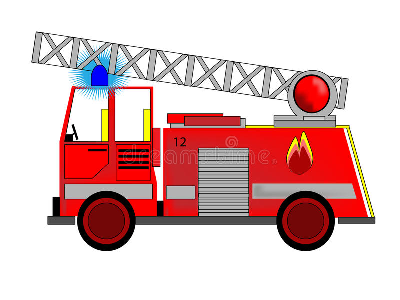 Download Fire engine stock vector. Illustration of assist, outside - 17379018