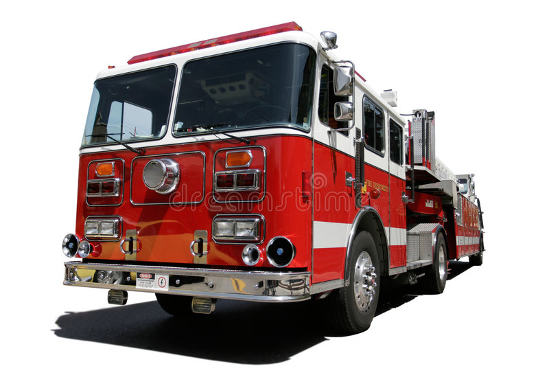 Fire Engine. Isolated on white background royalty free stock photo