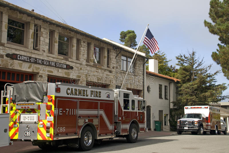Download Fire Engine, Carmel-by-the-sea Fire Station Editorial Stock Photo - Image: 18318153