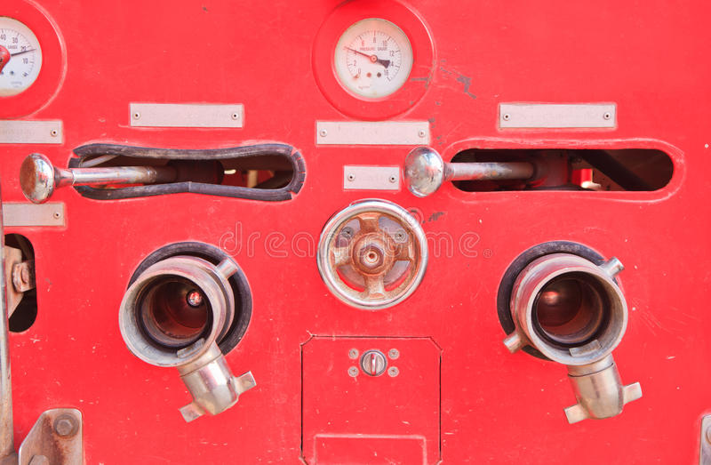 Fire engine. Close up fire engine trucks are operating royalty free stock image