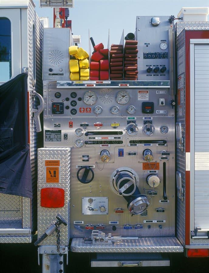 Fire engine closeup stock photo