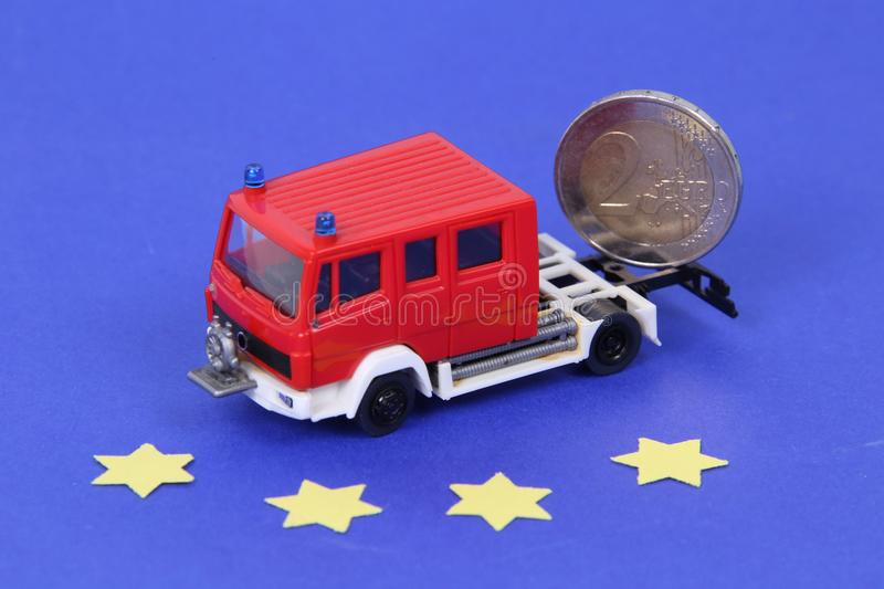 Fire Engine Euro stock images