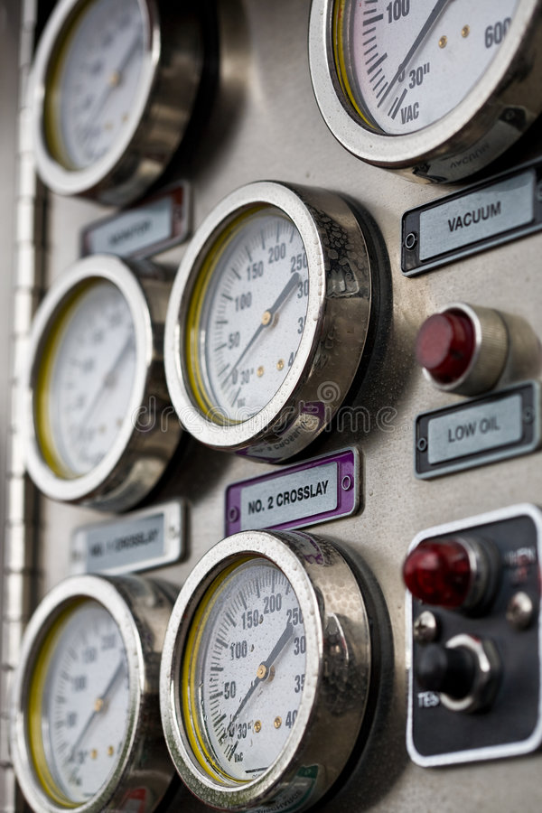 Free Fire Engine Gauges Stock Images - 6615794