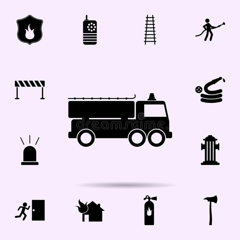 fire engine icon. Fireman icons universal set for web and mobile stock illustration
