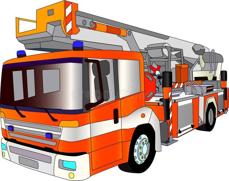 Fire engine lader stock illustration