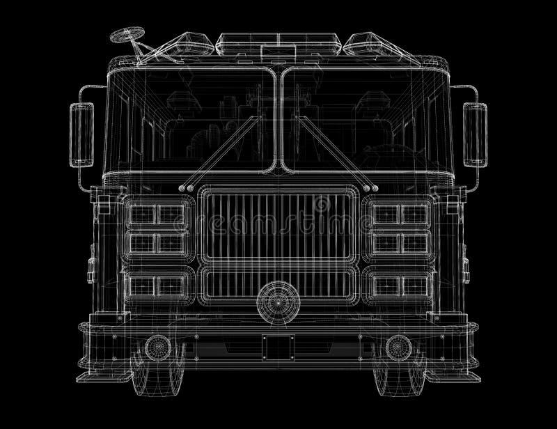 Fire Engine royalty free illustration