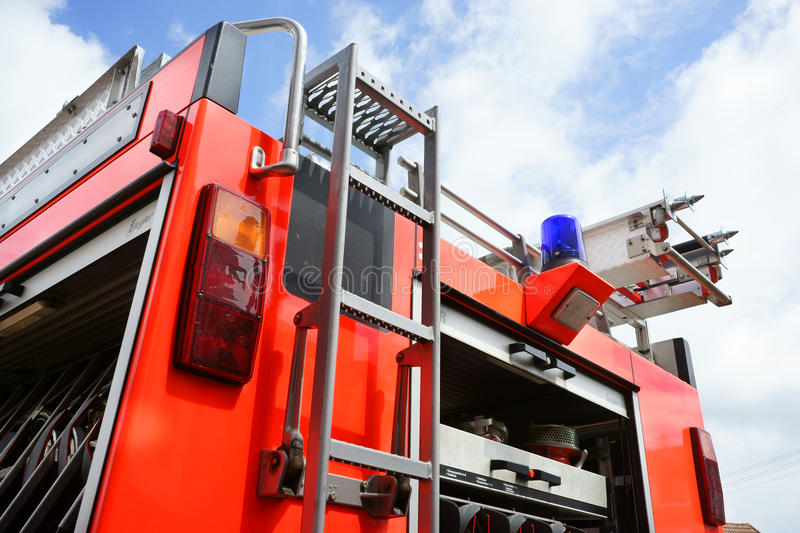 Fire Engine truck rear Germany royalty free stock images