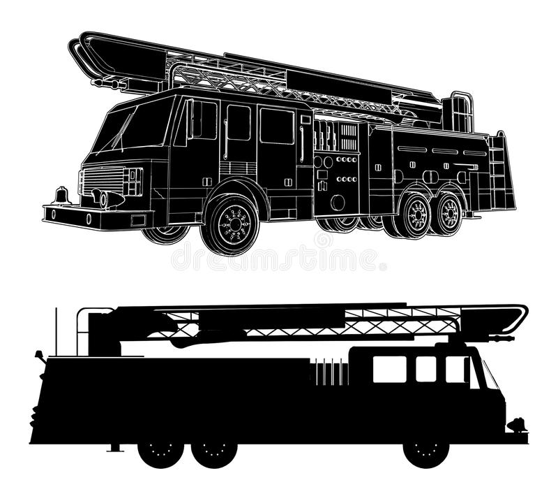 Fire Engine Vector 01 vector illustration