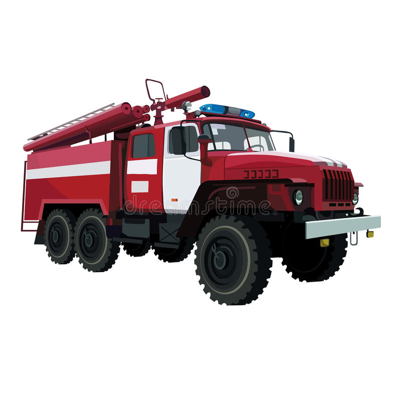 Fire-engine vehicle royalty free illustration
