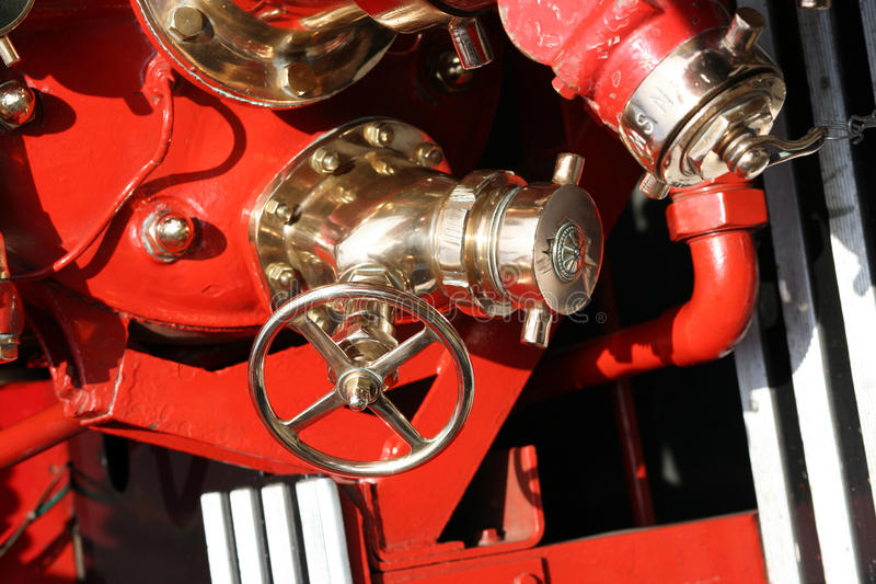 Fire Engine Water Pumps Royalty Free Stock Photography