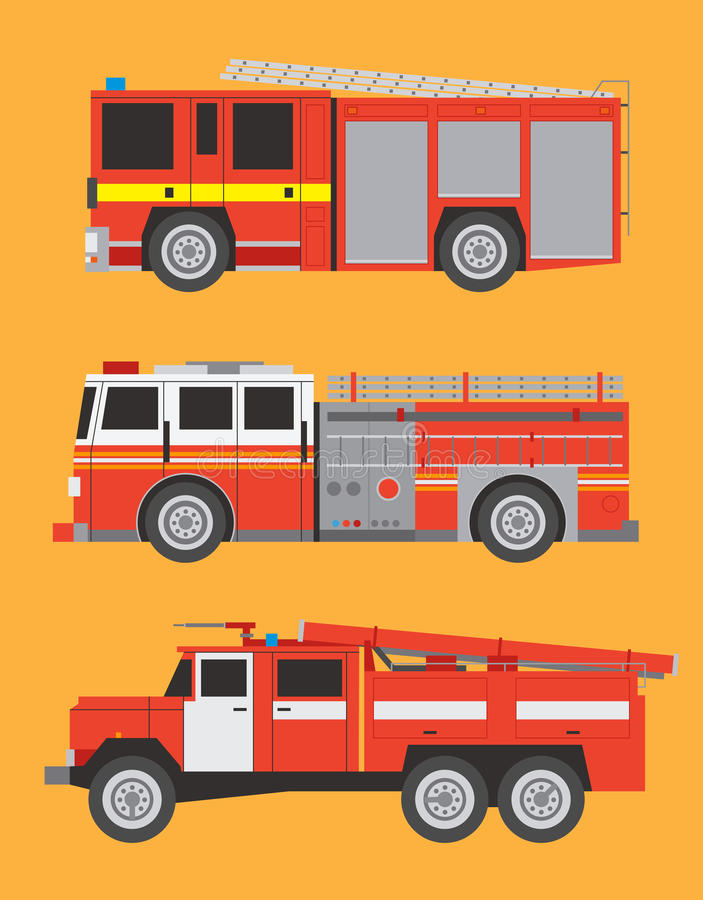 Download Fire engines stock vector. Image of background, infographic - 34308967