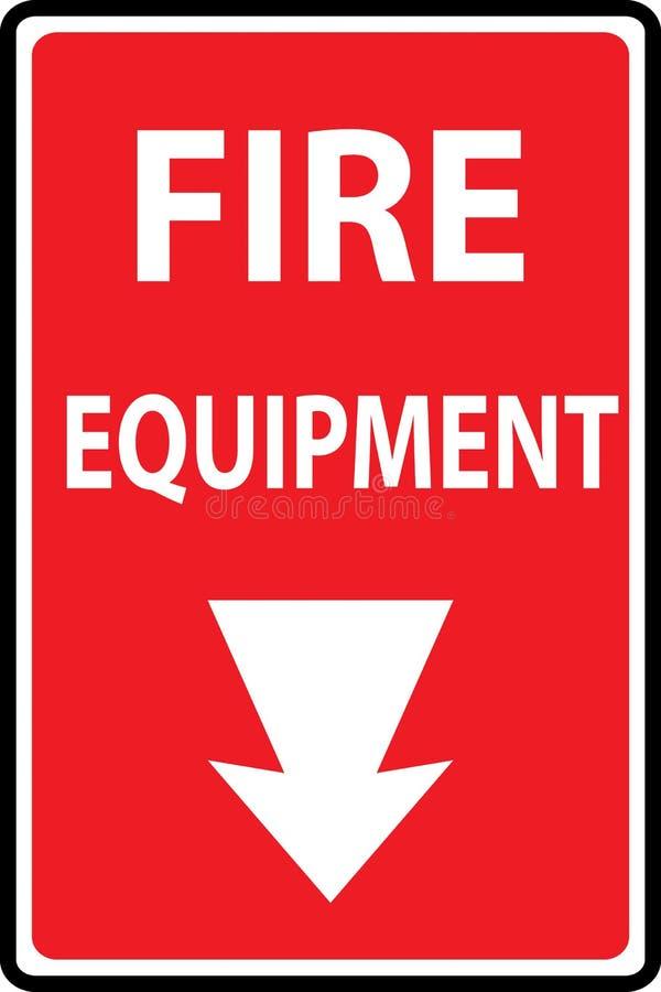 Fire equipment signs stock illustration