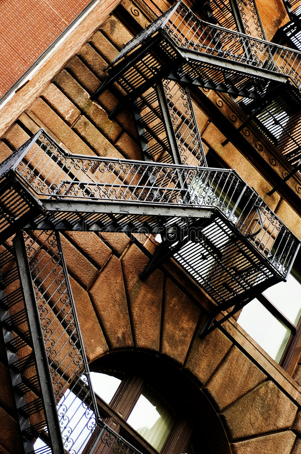 Download Fire escape stock photo. Image of risk, safety, fire, stairs - 1594318
