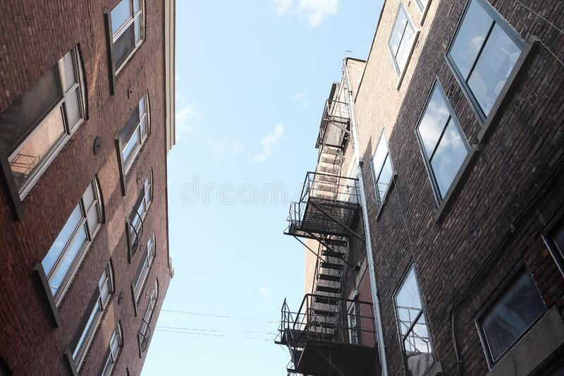 Fire escape stock photography