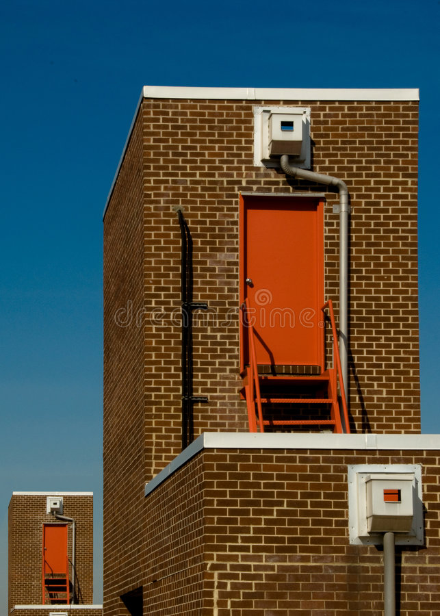 Download Fire Escape Doors On Building Stock Photo - Image of fire, architectural: 8952724
