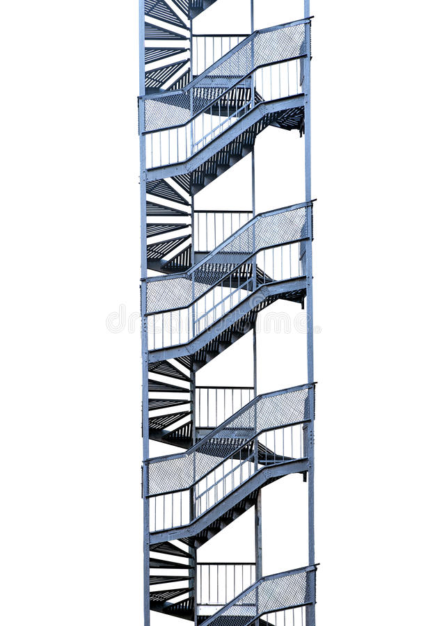 Fire escape isolated on white royalty free stock photography