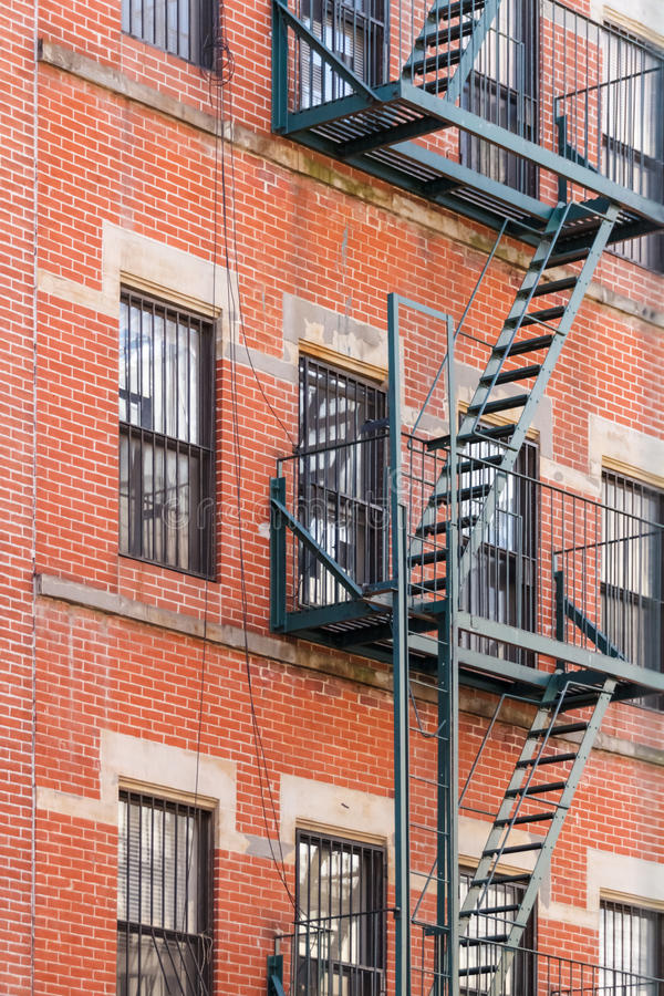 Fire escape ladders royalty free stock photography