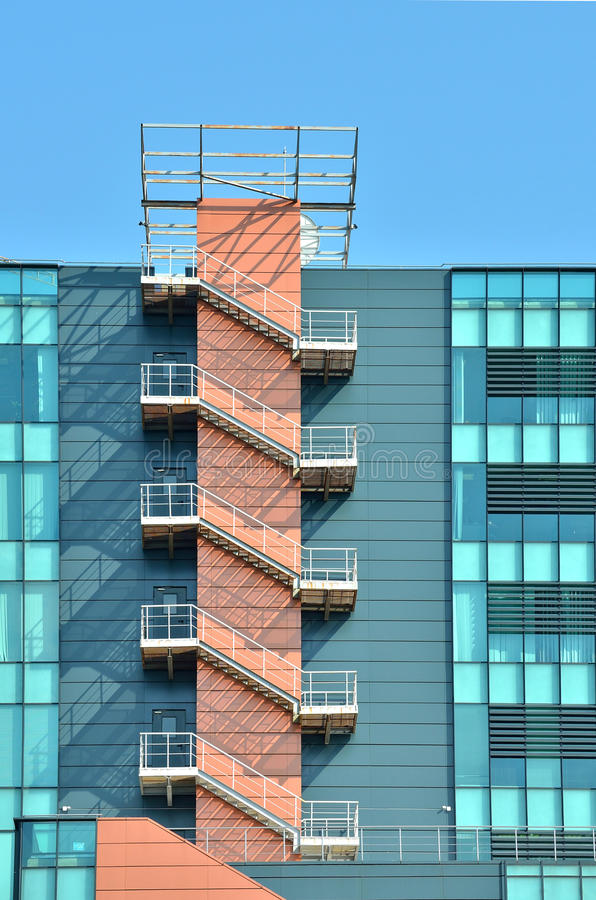 Fire Escape Outdoor Stairs Stock Photo Image Of Steps