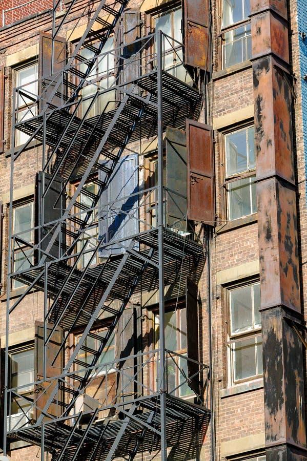 Fire escape in Soho, Manhattan, New York stock image