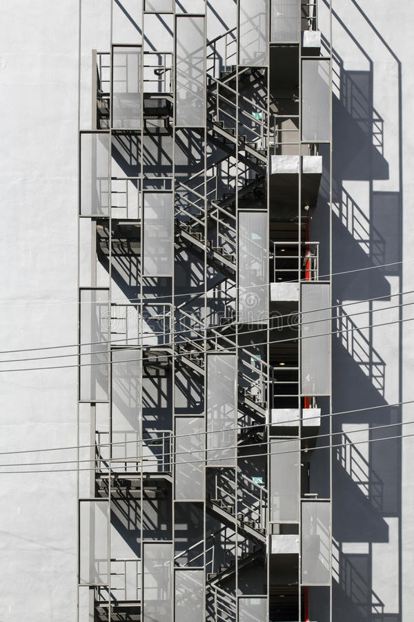 Awesome Download Fire Escape Staircase Of Building Stock Photo   Image Of Down,  Stairwell: 37689400