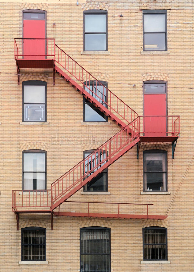 Fire escape stairs stock photography