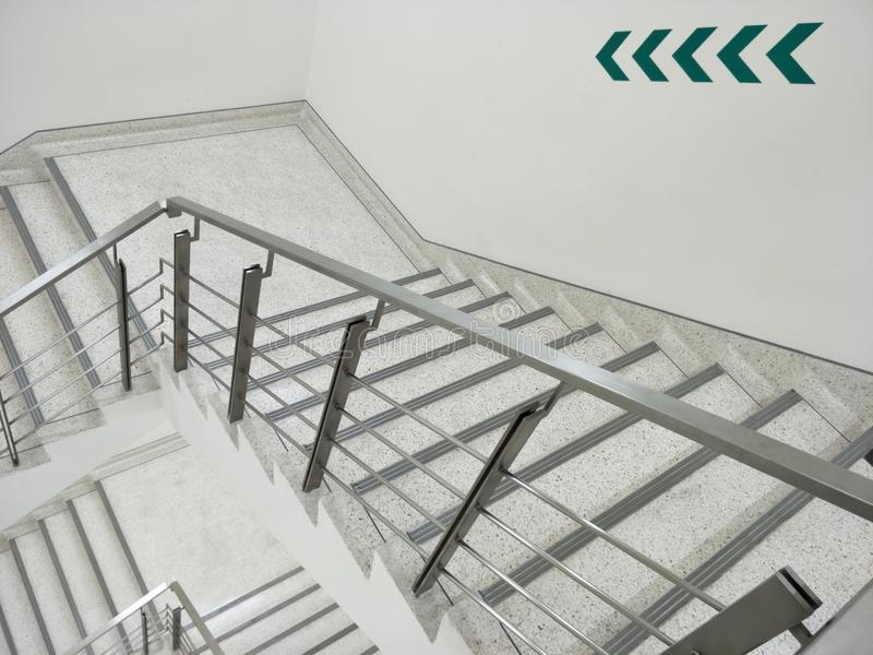 Fire escape stairs background royalty free stock photos