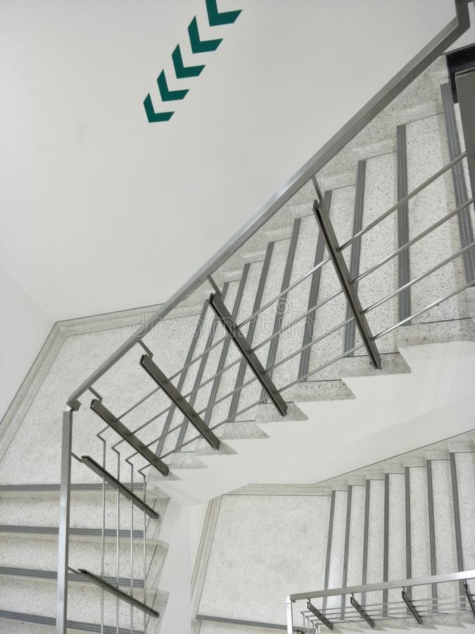 Fire escape stairs background royalty free stock photo
