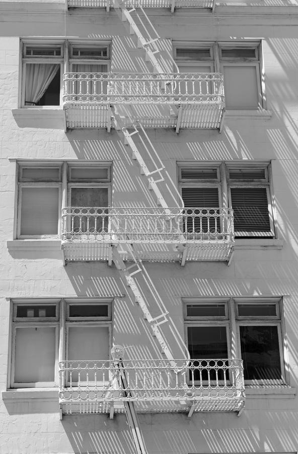 Download Fire Escape And Stairs On Exterior Of Walk Up Apartment Building  Stock Photo   Image