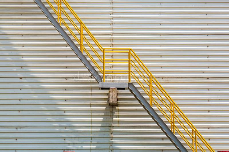 Fire escape stairs stock image