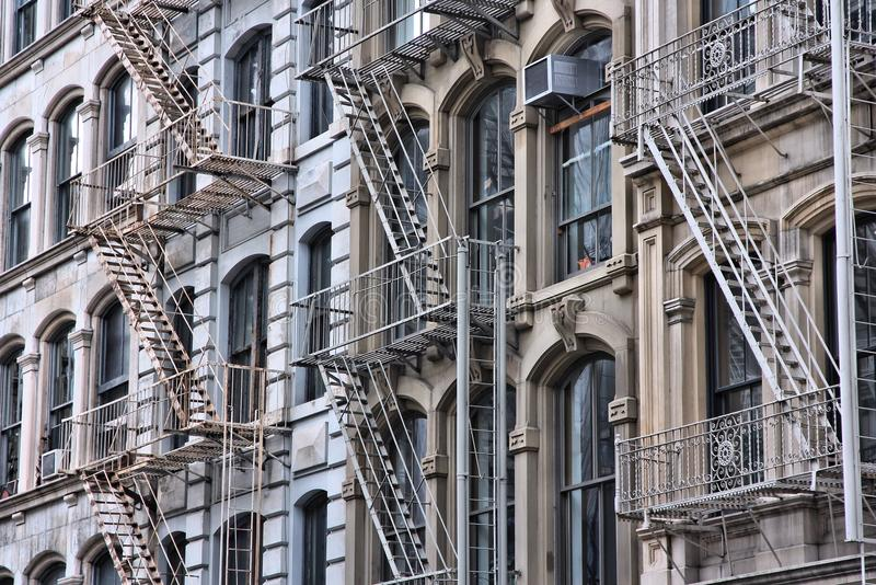 Fire escape stairs stock photo