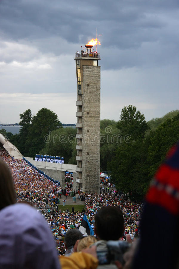 Download Fire Of Estonian National Song Festival Editorial Photo - Image: 10027566