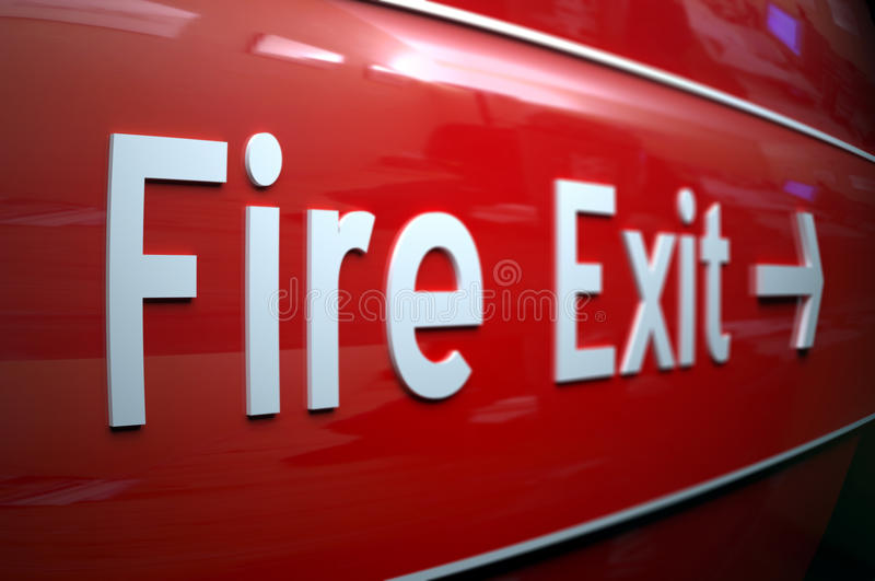 Download Fire exit stock image. Image of exit, sign, fireescape - 12711303