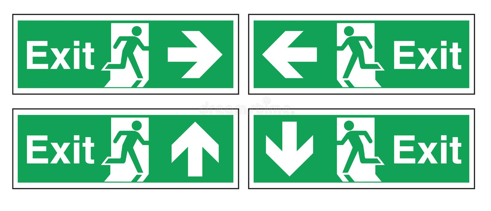 Fire Exit stock illustration