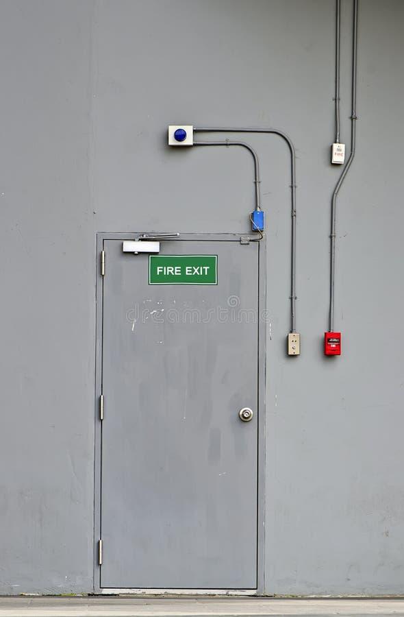 Fire exit door royalty free stock photos