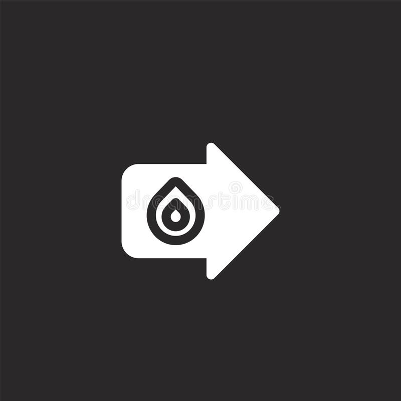 Fire exit icon. Filled fire exit icon for website design and mobile, app development. fire exit icon from filled emergencies. Collection isolated on black royalty free illustration